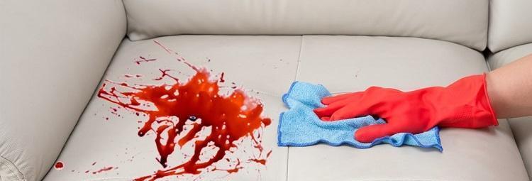 Как оттереть пятно за сохшей крови со стула фото