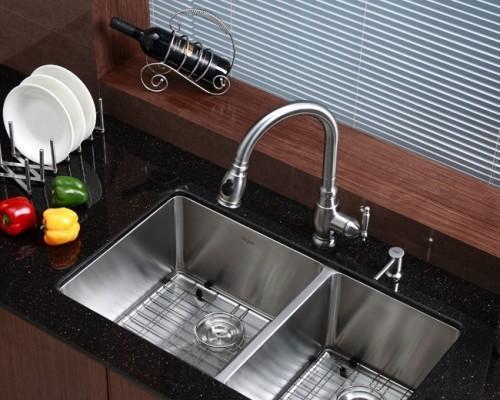 Кухонная мойка двойная Kraus KHU-103-33_enl