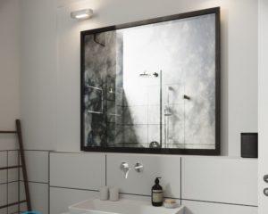 Как повесить зеркало в ванной на плитку?