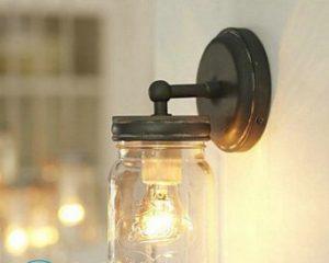 Крепление светильника к стене