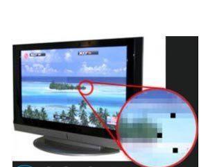 Темное пятно на экране ЖК телевизора