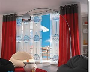 Дизайн штор на люверсах