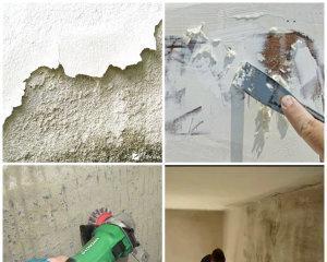 Как быстро снять побелку со стен?