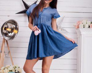 Джинсовое платье своими руками