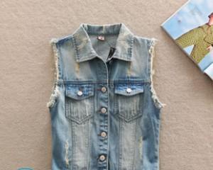 Как из джинсовой куртки сделать жилетку?