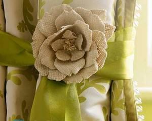 Цветы для штор своими руками — мастер-класс