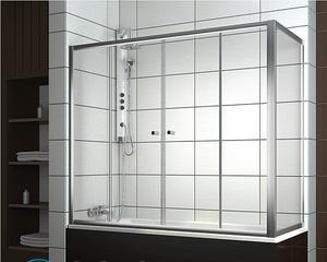 Как установить стеклянную шторку на ванну?
