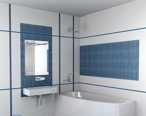Ремонт ванной панелями