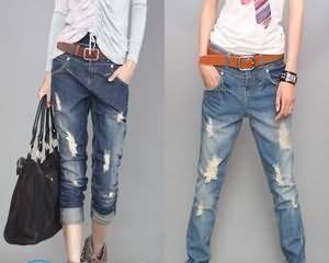Как сделать дырки на джинсах?
