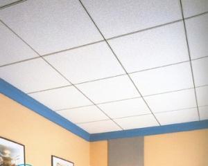 Чем покрасить потолочную плитку из пенопласта?