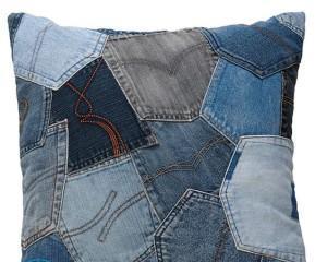 Подушки из джинсов своими руками