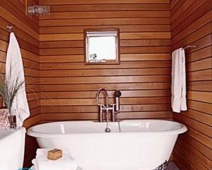 Отделка ванной комнаты вагонкой