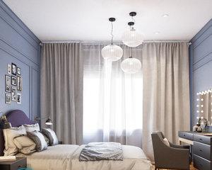 Кровать у окна в спальне — дизайн