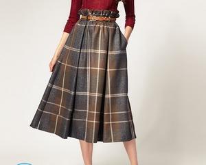 Как сшить юбку в складку?