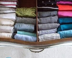 Как сложить вещи в шкафу компактно?