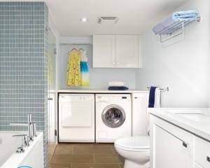 Стиральная машина в ванной комнате — дизайн